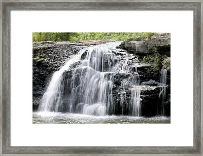 Framed Print featuring the photograph Sandstone Falls by Robert Camp