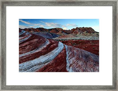 Fire Wave At Sunrise Framed Print by Eric Foltz