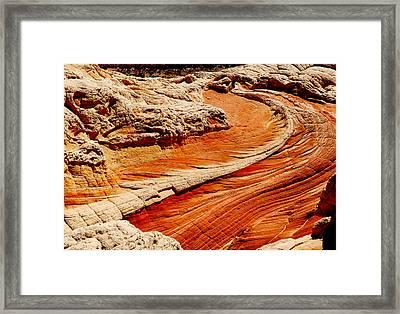Sandstone Highway Framed Print by Alan Socolik
