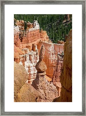 Sandstone Hoodoo Framed Print by Jim West