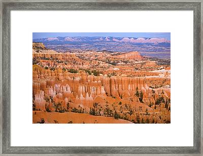 Sandstone Hoodoos Bryce Canyon Natl Park Framed Print by