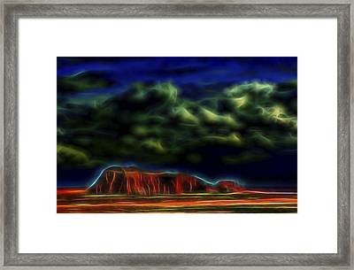 Framed Print featuring the digital art Sandstone Monolith 1 by William Horden