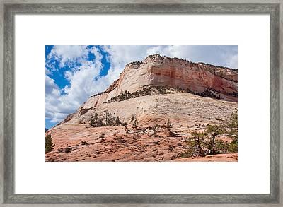 Sandstone Mountain Framed Print by John M Bailey