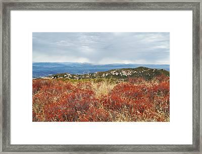Sandstone Peak Fall Landscape Framed Print