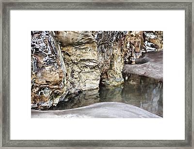 Sandstone Reflections Framed Print by Douglas Barnard