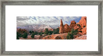 Sandstone Rock Formations, Kodachrome Framed Print