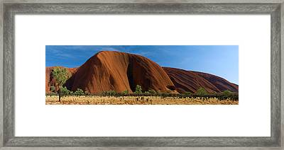 Sandstone Rock Formations, Uluru Framed Print by Panoramic Images