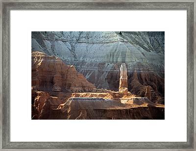Sandstone Rocks And Spire Framed Print