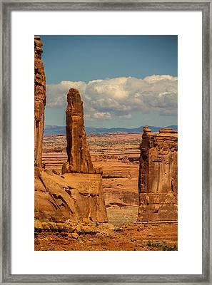 Sandstone Spires Framed Print