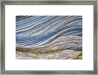 Sandstone Strata Framed Print by Tim Gainey