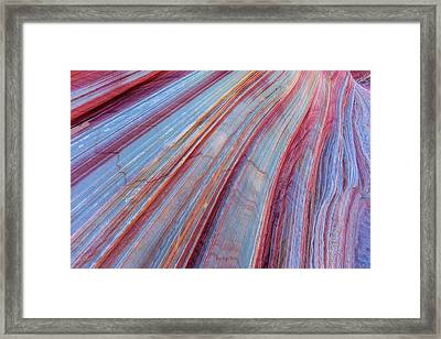 Sandstone Striping In The Vermillion Framed Print by Chuck Haney