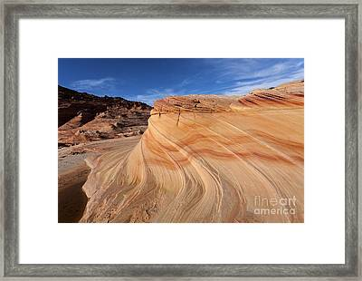 Sandstone Swirl Framed Print by Mike  Dawson