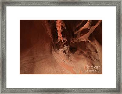 Sandstone Twists And Turns Framed Print by Adam Jewell