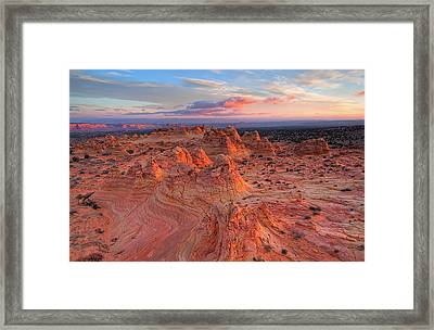 Sandstone Waves Framed Print by Rodeonexis Photography