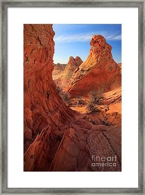 Sandstone Window Framed Print by Inge Johnsson