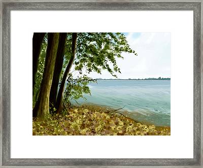 Framed Print featuring the painting Sandusky Bay by Shawna Rowe