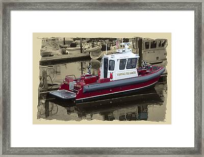 Sandwich Cape Cod Fire Rescue Boat Framed Print