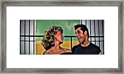 Sandy And Danny Framed Print by Florian Rodarte