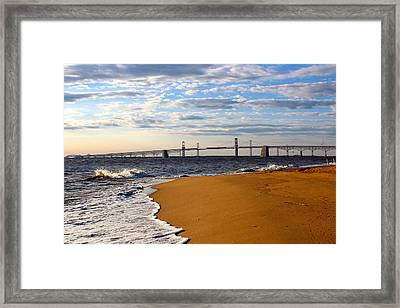 Sandy Bay Bridge Framed Print