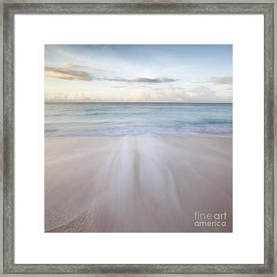 Sandy Beach At Sunrise - Barbados Framed Print by Matteo Colombo