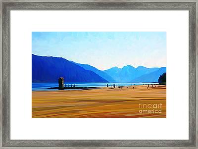 Sandy Beach Framed Print by Dorinda K Skains