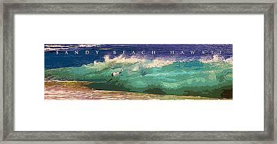 Sandy Beach Hawaii Framed Print by Ron Regalado