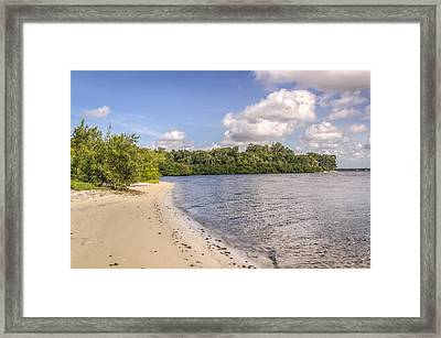 Framed Print featuring the photograph Sandy Beach by Jane Luxton