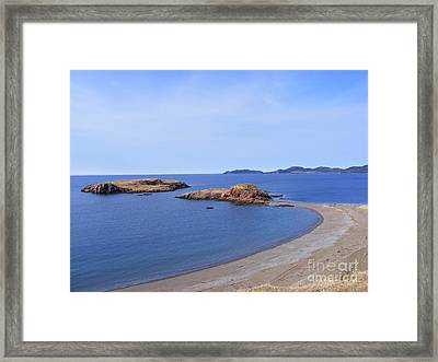 Sandy Beach - Little Island - Coastline - Seascape  Framed Print by Barbara Griffin