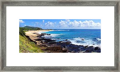 Sandy Beach Oahu Hawaii Framed Print