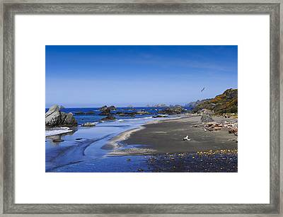 Sandy Beach On The North Coast Framed Print