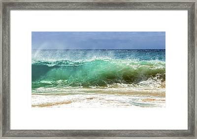 Sandy Beach Shorebreak 1 Framed Print