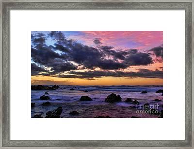 Sandy Beach South Shore Oahu Hawaii Framed Print by Leslie Kirk