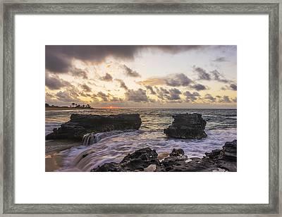 Sandy Beach Sunrise 1 - Oahu Hawaii Framed Print by Brian Harig