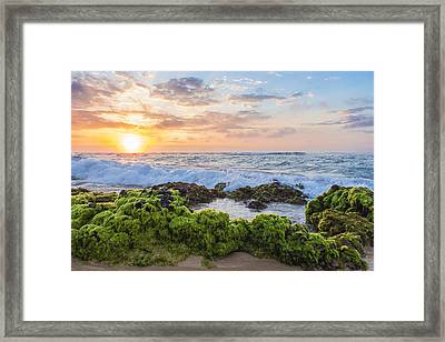 Sandy Beach Sunrise 2 Framed Print