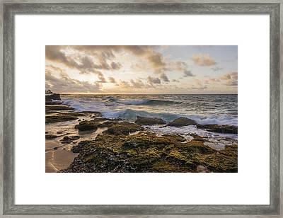 Sandy Beach Sunrise 2 - Oahu Hawaii Framed Print by Brian Harig