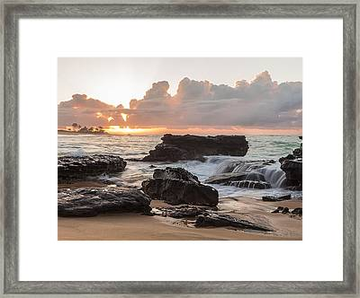 Sandy Beach Sunrise 6 Framed Print