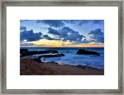 Sandy Beach Sunrise 6 - Oahu Hawaii Framed Print by Brian Harig