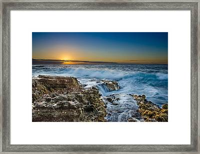 Sandy Beach Sunrise Framed Print