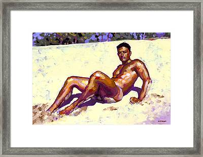 Sandy Bottom Framed Print
