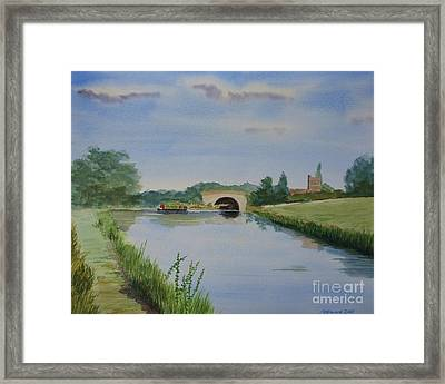 Sandy Bridge Framed Print by Martin Howard