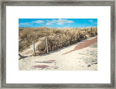 Sandy Dunes In Holland Framed Print by Jenny Rainbow