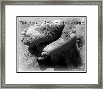 Framed Print featuring the photograph Sandy Feet by Heidi Manly