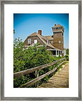 Sandy Hook Life Saving Station Framed Print by Colleen Kammerer
