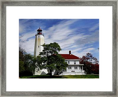 Sandy Hook Lighthouse Nj Framed Print by Skip Willits