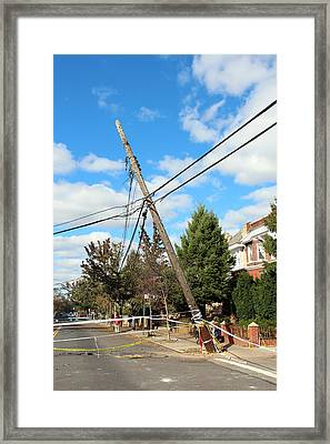 Framed Print featuring the photograph Sandy In Astoria 1 by Jim Poulos