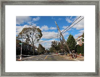 Framed Print featuring the photograph Sandy In Astoria 2 by Jim Poulos