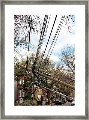 Sandy In Astoria 5 Framed Print by Jim Poulos