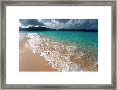 Sandy Island, British Virgin Islands Framed Print by Susan Degginger