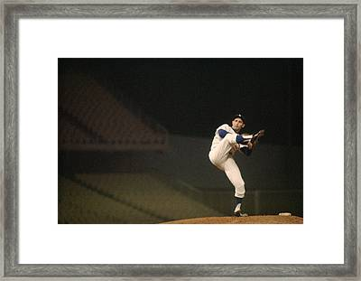 Sandy Koufax High Kick Framed Print by Retro Images Archive