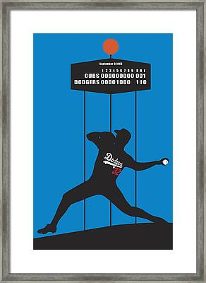 Sandy Koufax Perfect Gem Framed Print by Ron Regalado